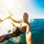 kitesurfer sunset selfie