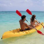 tandem kayaking at the beach e