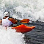 whitewater kayaking rapids